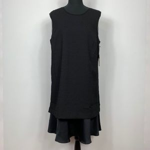 Simply Vera Vera Wang Black Sleeveless Shift Dress